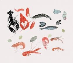 Seafood Medley Print by Elizabeth Blackadder