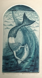Mermaid  Fish Print