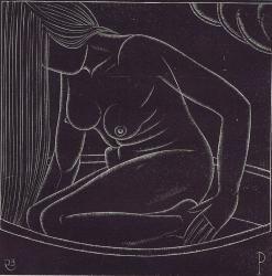 Girl in Bath Print
