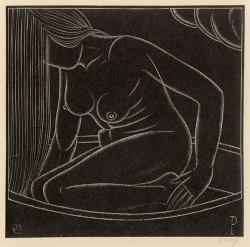 Girl in Bath II Print by Eric Gill