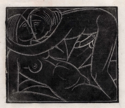 Lovers Print by Eric Gill