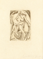 Lovers I (to be sold as part of set of 4) Print by Gertrude Hermes