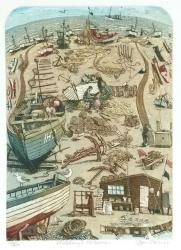 Aldeburgh Fishermen Print