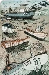 Aldeburgh Boats Print
