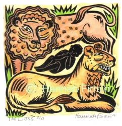 The Lion and the Boy Print