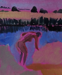 Bather Painting by Heidi Jukes