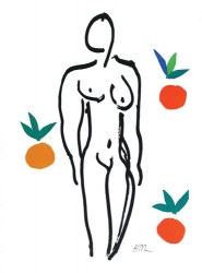 Nu aux Oranges Print