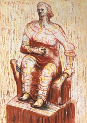 Seated Figure Print