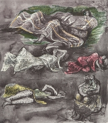 Untitled 'Henry Moore Shelter Sketchbook' Print