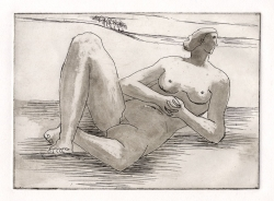 Reclining Nude Print by Henry Moore