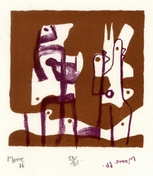 The Upright Motives Print by Henry Moore