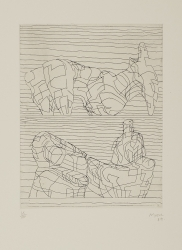 Two Recling Figures Print by Henry Moore