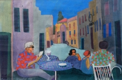 Hockney in Venice Painting