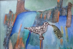 Bird with Fishbone Painting