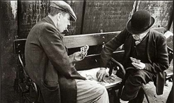 Card Players Whitechapel, 1938 Photograph
