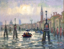 After a Shower, Venice Painting