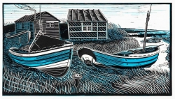 Cobles at Beadnell Print