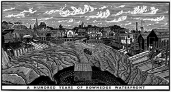 One Hundred Years of Rowhedge Waterfront Print