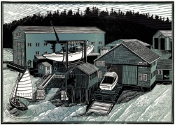 Brooklin Boatyard Print