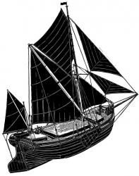 Spritsail Barge (Alphabet) Print