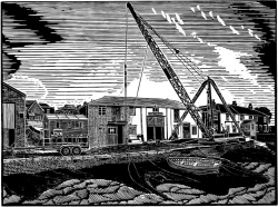 Scotch Derrick at Colne Marine Wivenhoe Print