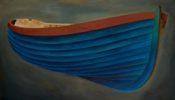 Blue Boat Print