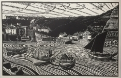 Keel Boats & Cobbles, Staithes, Yorkshire Print