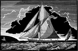 Falmouth Pilot Cutter, Returning Home Print