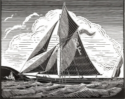 Falmouth Pilot Cutter, Pellew Print