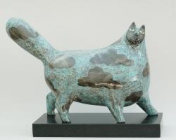 Blue Clouds Cat Ceramic