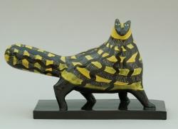Yellow Deco Cat Ceramic