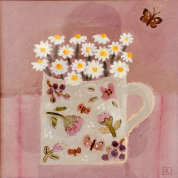 Daisies and Butterflies Painting
