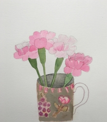 Four Pinks Painting