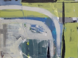 Spring Green (River Flow Series) Painting