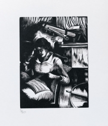 Interior with Musician Print