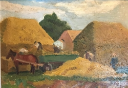 Pex Farm Painting by Joyce Pallot