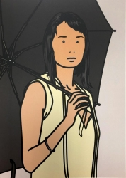 Hijiri with umbrella Print by Julian Opie