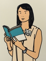 Hijiri with book Print by Julian Opie