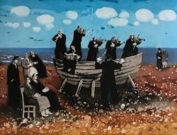 Concert by the Sea Print by Karolina Larusdottir