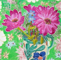Green Table Cloth Painting