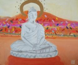 Budda on the Windowsil Painting