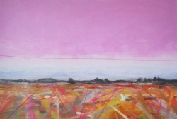 Barn Owl Field, Norfolk Painting