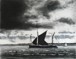 Maldon Barge, Heybridge Print by Kit Leese