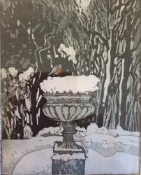 Robin in Winter Print
