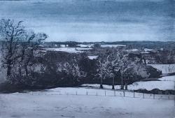 Dedham Vale, Winter Print by Kit Leese