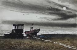 Aldeburgh Beach Print by Kit Leese