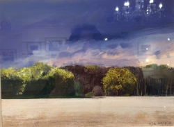 Wiltshire, Summer Evening Painting