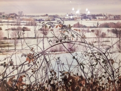 Stour Valley Flatford, Early Snow Painting