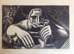 Pharaoh's Icon (also known as Caesar and the Slave) Print by Leon Underwood