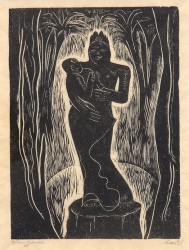 African Madonna Print